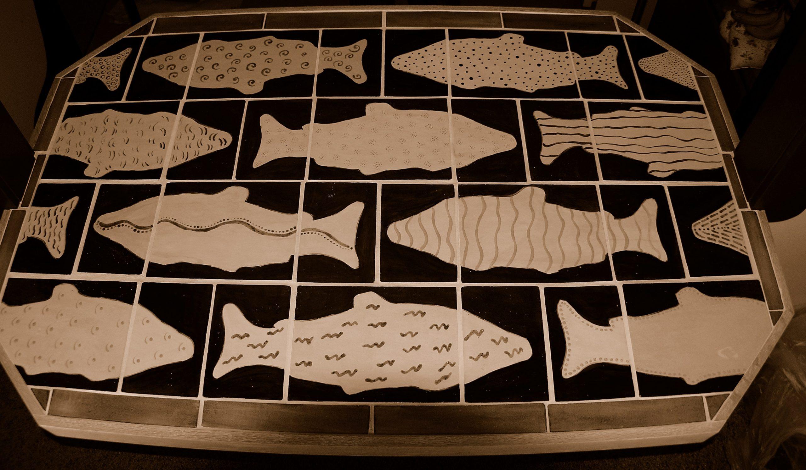 sepia salmon bar